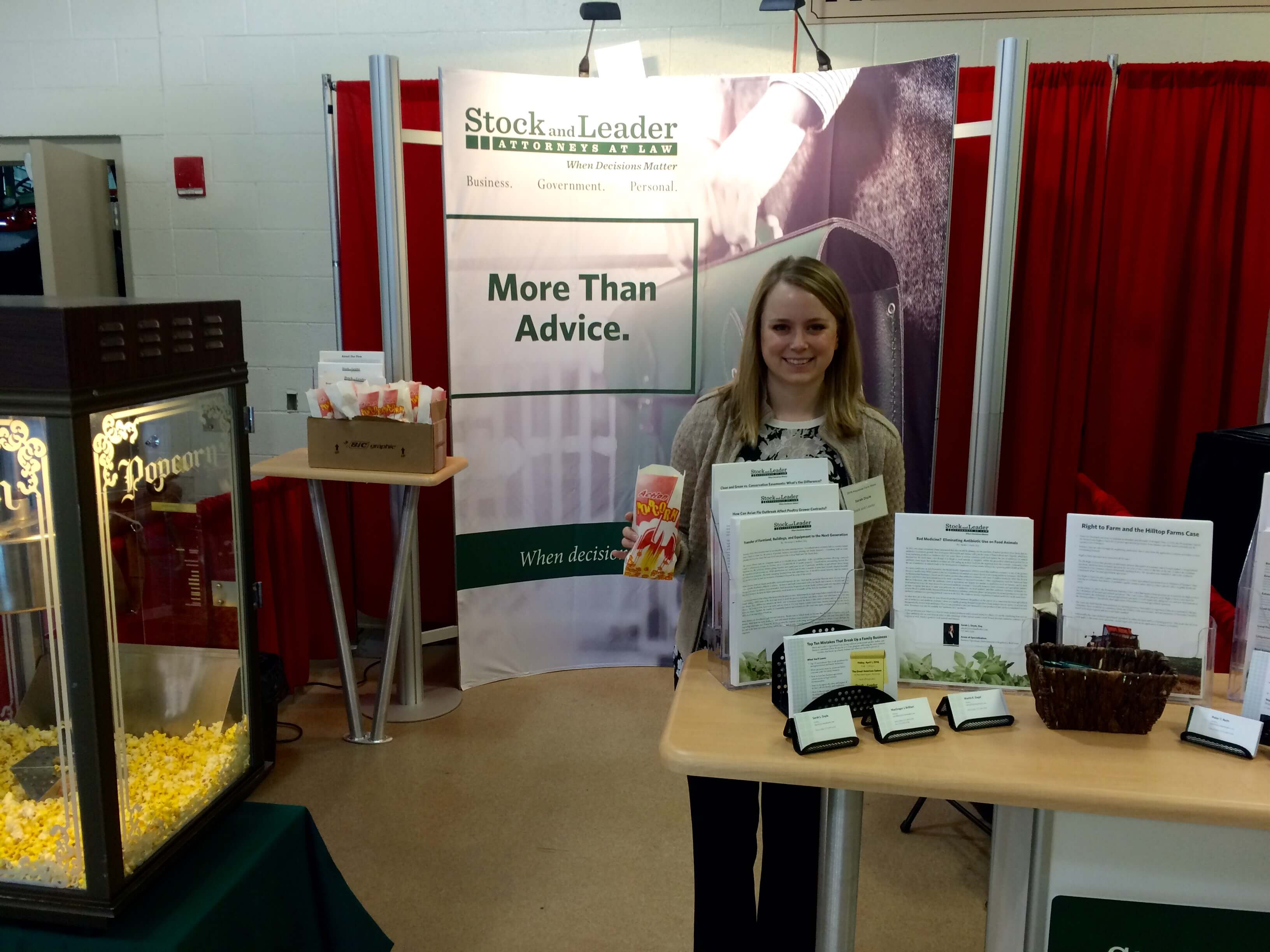 Image: Attorney Doyle at the farm show