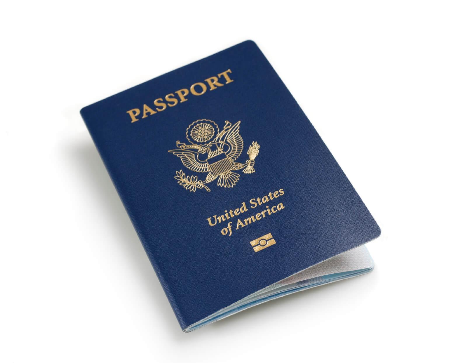 Image: a passport