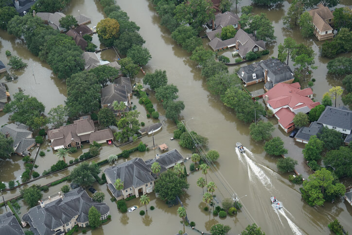 Image: flooded homes and streets