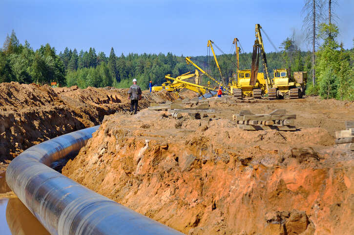 Image: Construction of the gas pipeline